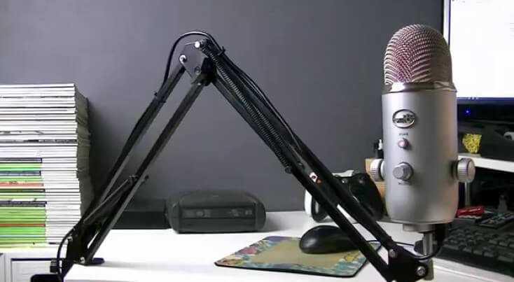microphone desk mounted stand