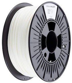 white 3mm PLA filament