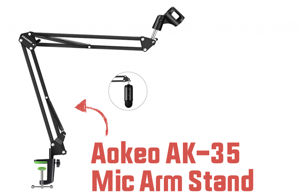 Ak-35 microphone stand compatible with yeti mics