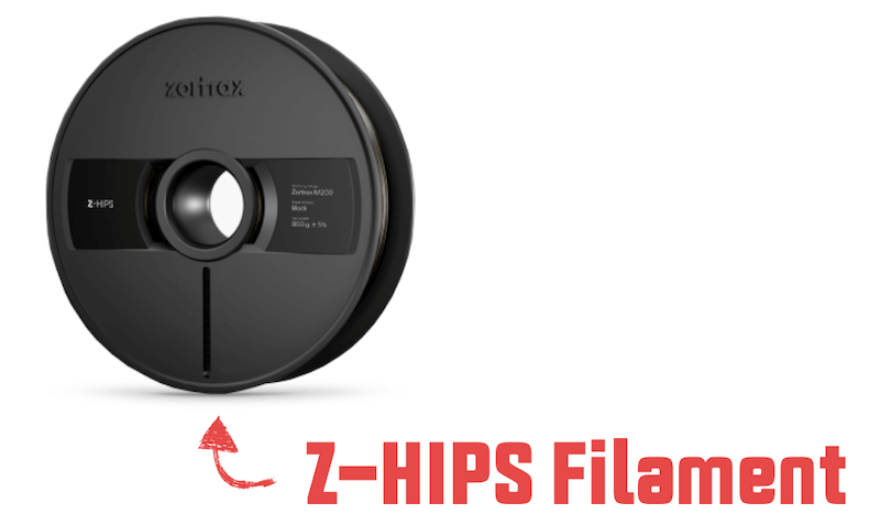 Zortrax HIPS Filament types
