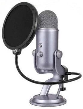 Pop filter designed for yeti microphones